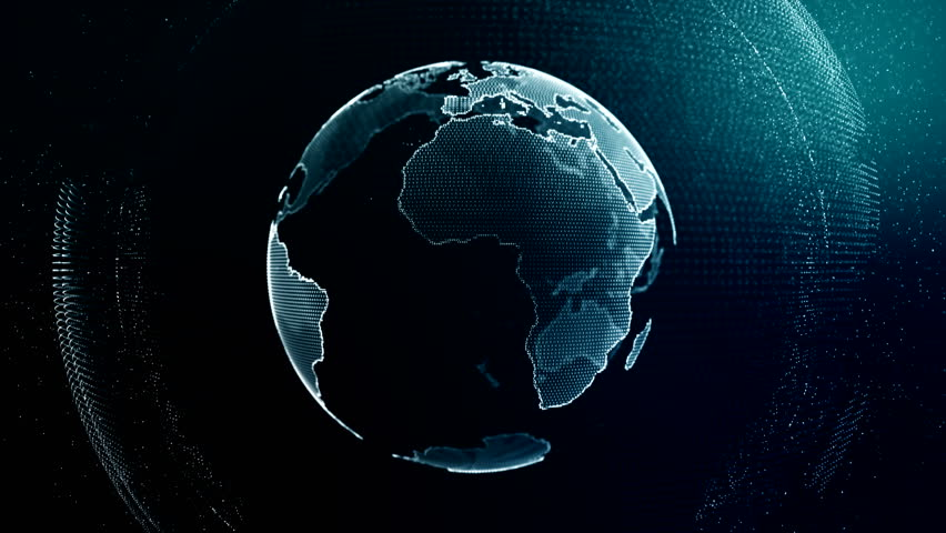 Visible Earth Blue Marble Digital Clouds Earth rotating animation social future technology abstract 3Drendering scientific growth data network surrounding planet earth rotating Digital data globe loop | Shutterstock HD Video #1023330160