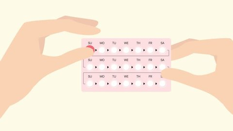 How to use birth control pills. Sexology 2d animation