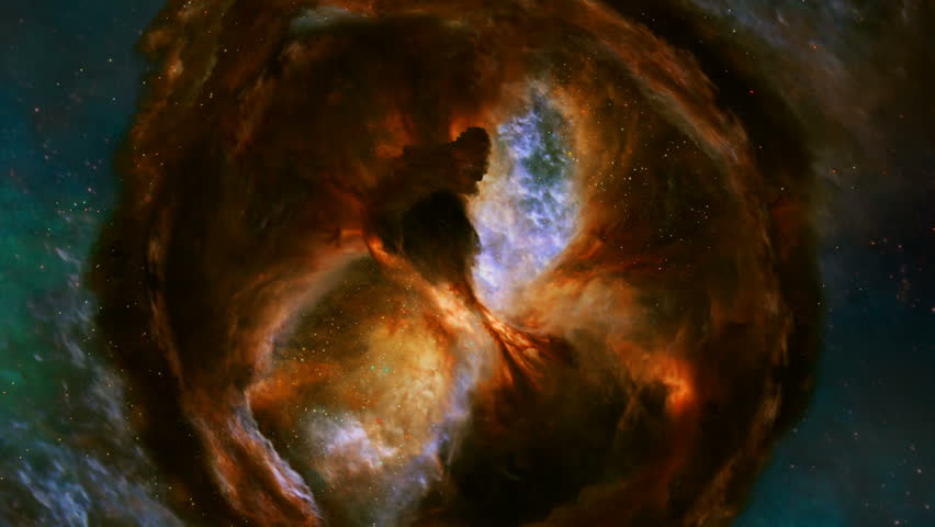 A star forming region in the constellation of Cygnus the Swan is shown enshrouded in billowing clouds of gas and dust.  Elements used with permission by ESA/Hubble  | Shutterstock HD Video #1023366070