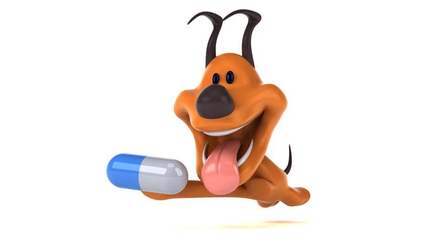 Fun dog - 3D Animation   Shutterstock HD Video #1023370510