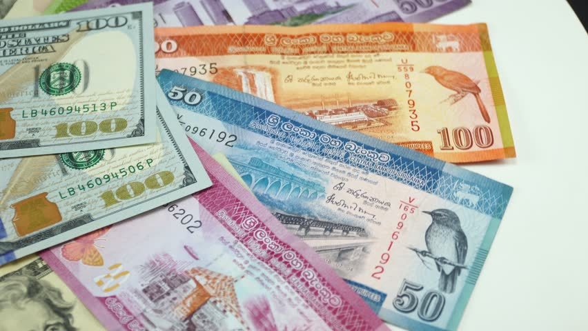 Sri Lankan Money and Us Stock Footage Video (100% Royalty-free) 1023417460  | Shutterstock