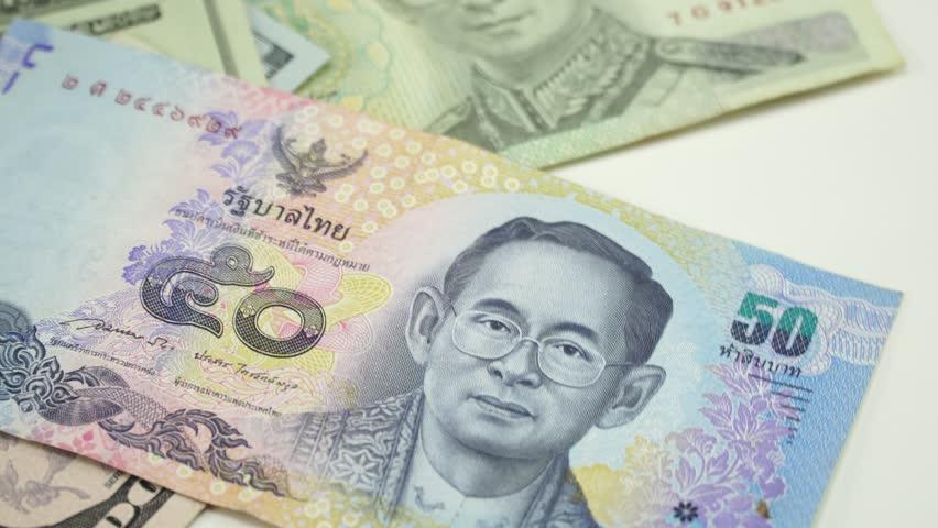 Thai Money And Us Dollars 4k