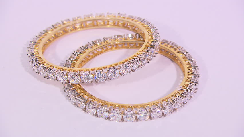 Still shot of a pair of bangles at a store in Delhi, India | Shutterstock HD Video #10234190