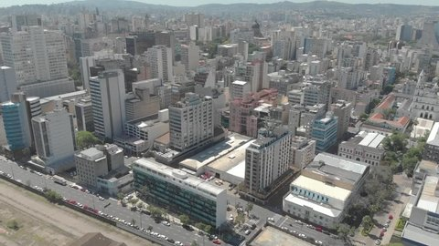 Aerial footage of Porto Alegre/Rio Grande do Sul/Brazil - November 2018