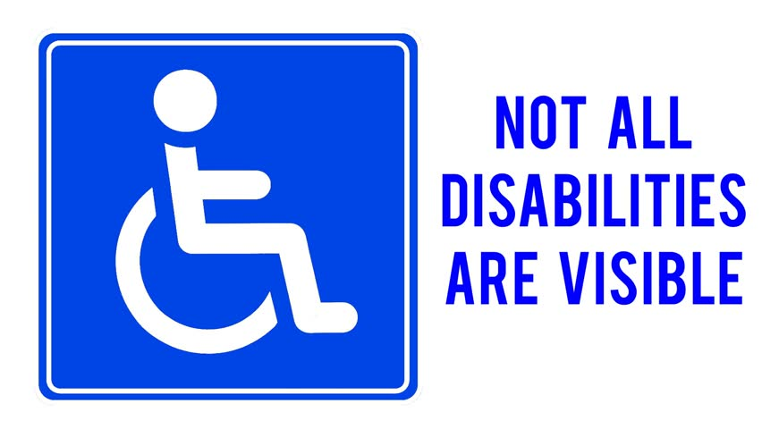 not all disabilities are visible - 852×480