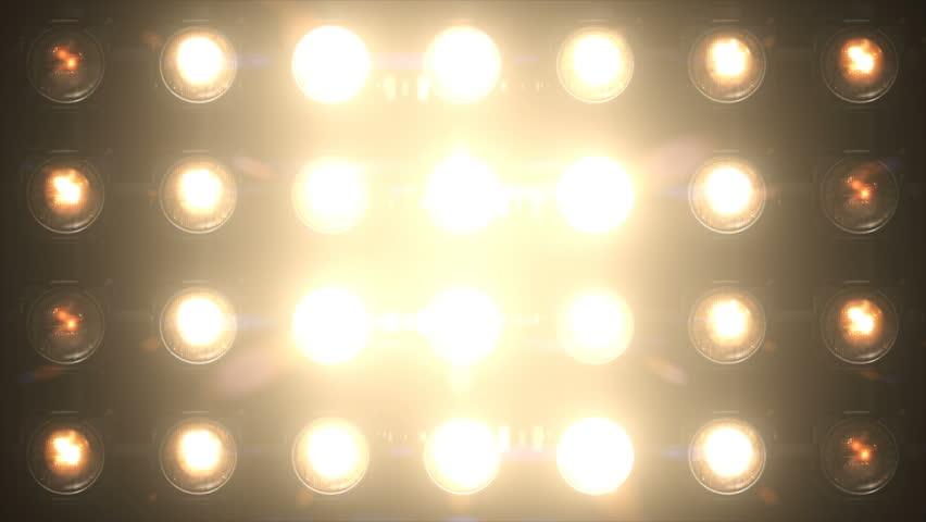 Floodlight Lights Flashing Wall Chromlech  VJ Stage 4K Animation Blinking Lights Flash Club Flashlights Disco Lights Matrix Beam Lights Bulb Halogen Headlamp Lamp Nightclub Turn Off On Loop   Shutterstock HD Video #1023864610