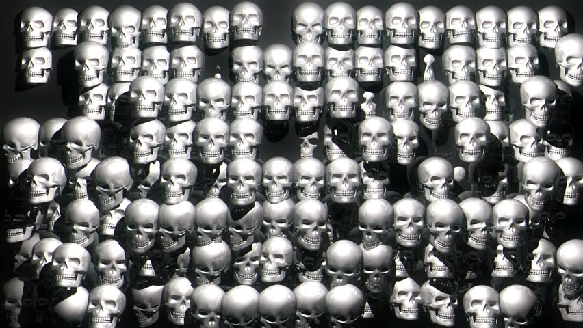 Displace skull head animation. Skull texture video pattern. FullHD Skull displacement and extrude motion background. Skull Wall amazing halloween visuals for horror events | Shutterstock HD Video #1023910690