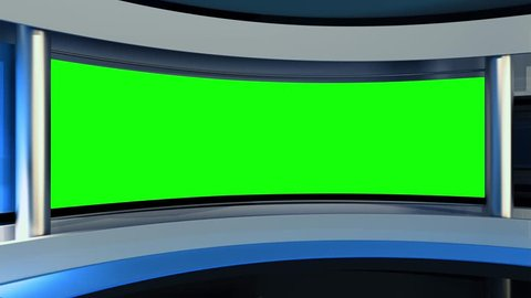 News Studio. The perfect backdrop for any green screen or chroma key video production. Loop.