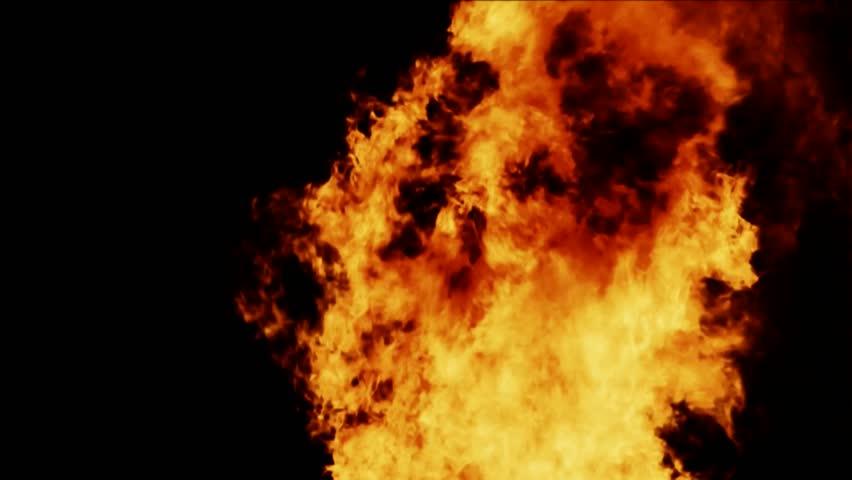 Fireball, realistic fire, FullHD 1080i, hige resolution.   Shutterstock HD Video #1024064750