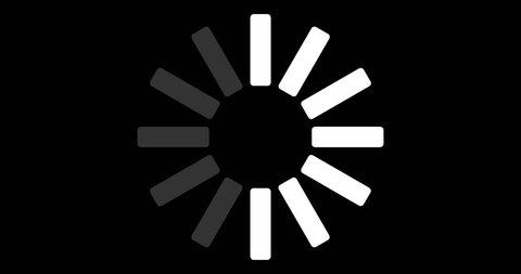 4K Loading Pending circle icon background animation sign icon business symbol sign icon amazing set business icon sets technology Flat Style Animated Shapes Elements Loading screen Loading Process 4k