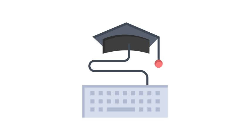 Keykeyboard, Education Line Icon Motion Graphic Animation | Shutterstock HD Video #1024089530