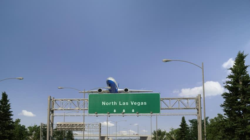 Airplane Take off North Las Vegas | Shutterstock HD Video #1024167620