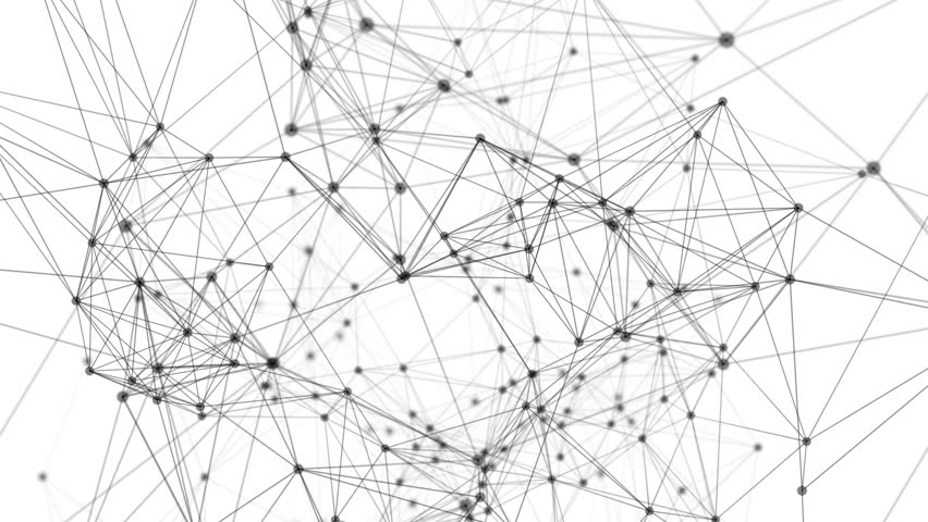 Digital computer data and network connection triangle lines and dots in futuristic technology concept background. Abstract graphic design illustration #1024178630