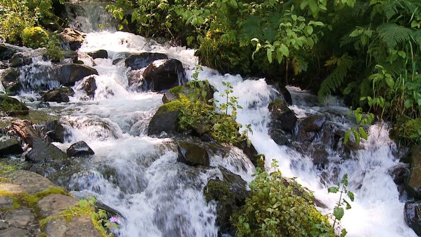 cascading stream slow motion