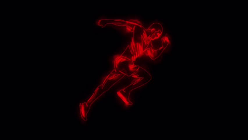 Red Running Man Runner Animated Logo Element with Reveal Effect | Shutterstock HD Video #1024476080