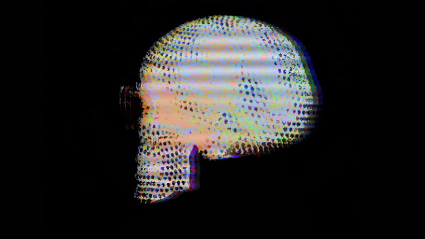 Amazing diamond covered skull with sunglasses rotating. this is a unique handmade object from our studio | Shutterstock HD Video #1024575440