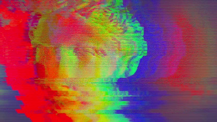 Digital pixel noise glitch art effect. Retro futurism 80s 90s dynamic wave style. Video signal damage with tv noise and old screen interference | Shutterstock HD Video #1024642010