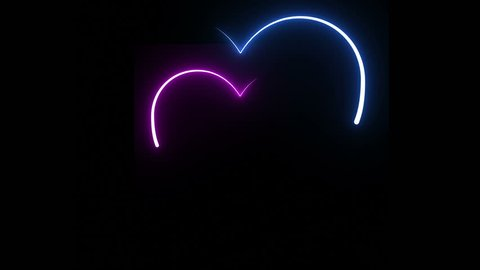 Neon symbol design sign amazing cool 4k colorful abstract background heart  beat line 4k neon light heartbeat display screen medical research show sign  colorful abstract background 4k neon symbol sign