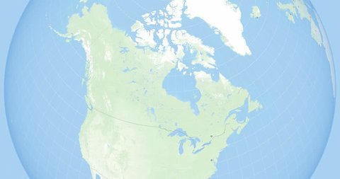 Zoom to canada  state borders and capitals  world zoom into canada - planet  earth  political borders of north american countries: canada and the usa  with alaska, mexico  high-res texture