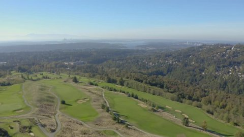 Issaquah, WA / United States - 09 26 2018: Issaquah Golf Course