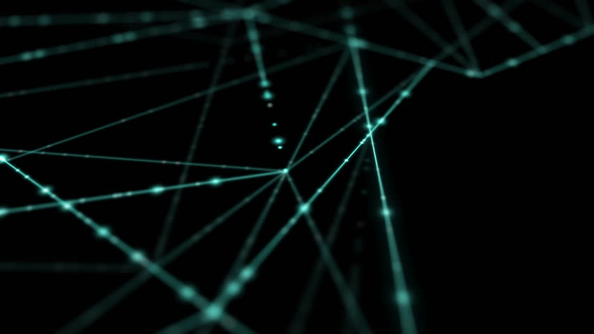Abstract line lighting frame structure pattern wireframe polygon futuristic bokeh, digital data technology concept design on blue gradient background animation 4K with copy space   Shutterstock HD Video #1025112770
