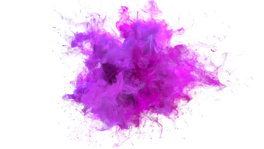 Magenta Pink Color Burst - colorful smoke explosion fluid particles slow motion alpha matte isolated on white | Shutterstock HD Video #1025221190