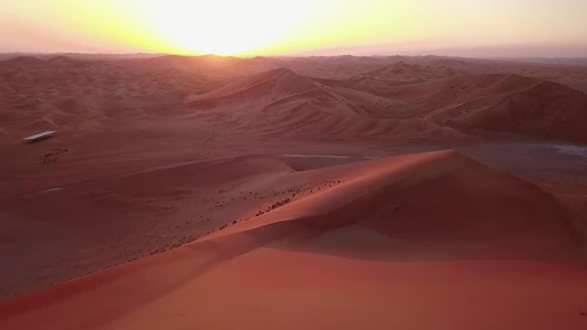 Desert Sunset in Dubai | Shutterstock HD Video #1025280290