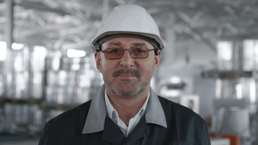 Engineer Plan of Manufacture Work. Caucasian Business People in Hard Hat or Safety Wear. Confident Older Contractor or Attractive Mechanic of Machine Inspection for Machinery Tool Job Close-up Indoors | Shutterstock HD Video #1025460020