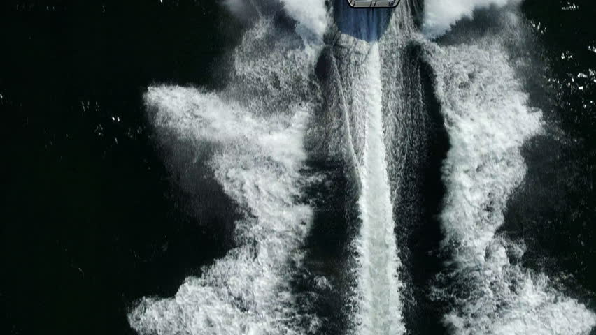 Cinematic and dramatic plan view of a speedboat | Shutterstock HD Video #1025511050