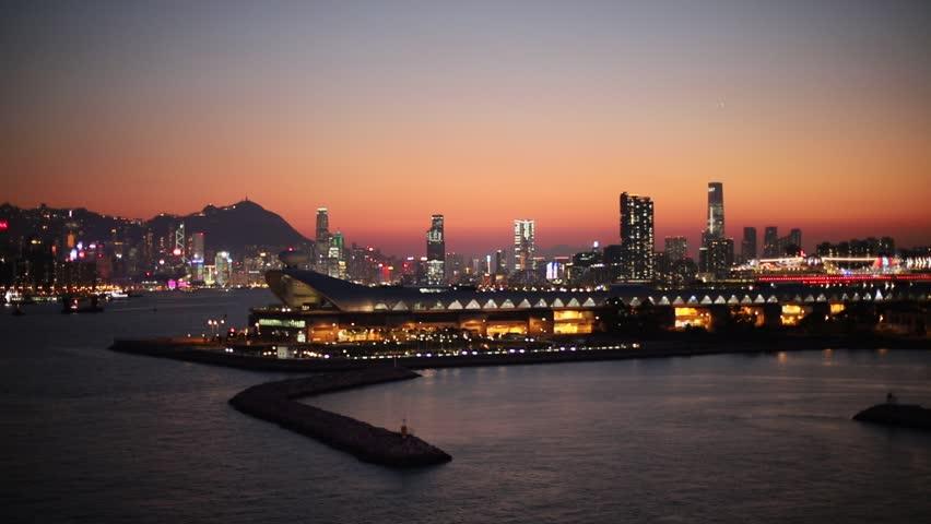 Kwun tong view of hong kong city | Shutterstock HD Video #1025674100