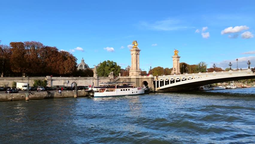 Seine river Paris France   Shutterstock HD Video #1025723360