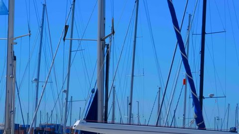 Yachts Of Different Sizes Stock Video Footage - 4K and HD