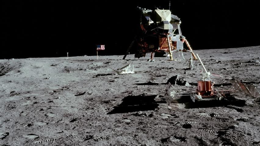 Astronaut walking on the moon. | Shutterstock HD Video #1025816600