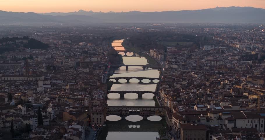 Flyover Ponte Vecchio, Florence | Shutterstock HD Video #1025843060