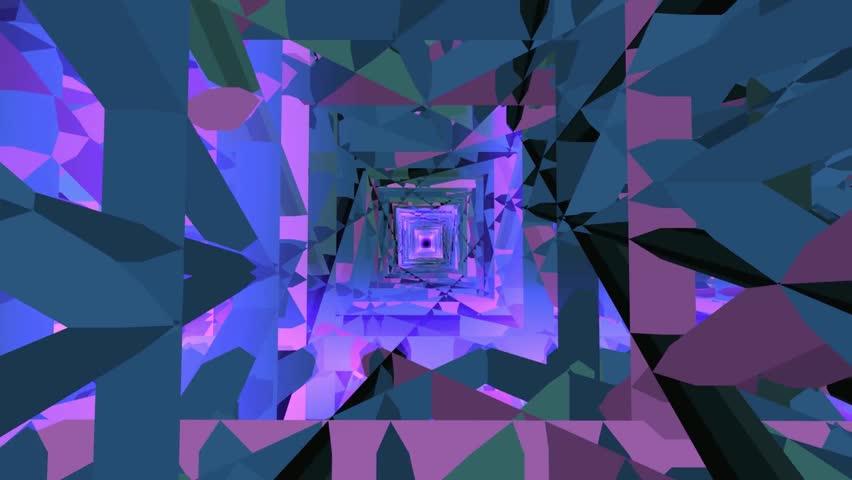 4K Moving Background - Hypnotic Geometric Complex   Shutterstock HD Video #1025864060