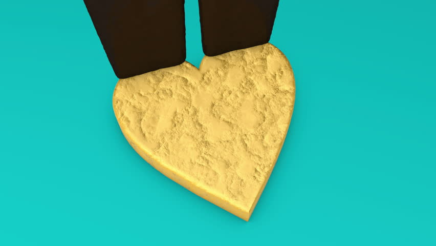 3d animation of glazed heart shaped biscuit.   Shutterstock HD Video #1025866670