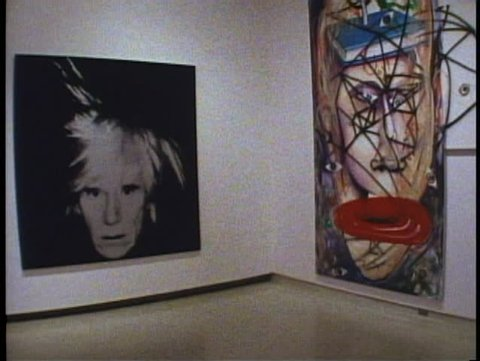 PITTSBURGH, PENNSYLVANIA, 1994, Andy Warhol self portrait, Carnegie Institute