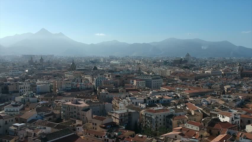 Aerial view of Palermo, Sicily, Italy | Shutterstock HD Video #1025974730