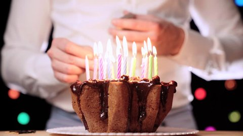 Groovy Birthday Cake With Candles Birthday Stockbeeldmateriaal En Personalised Birthday Cards Vishlily Jamesorg