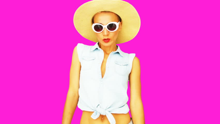 Animation minimal gif design. Girl country summer style #1026037400