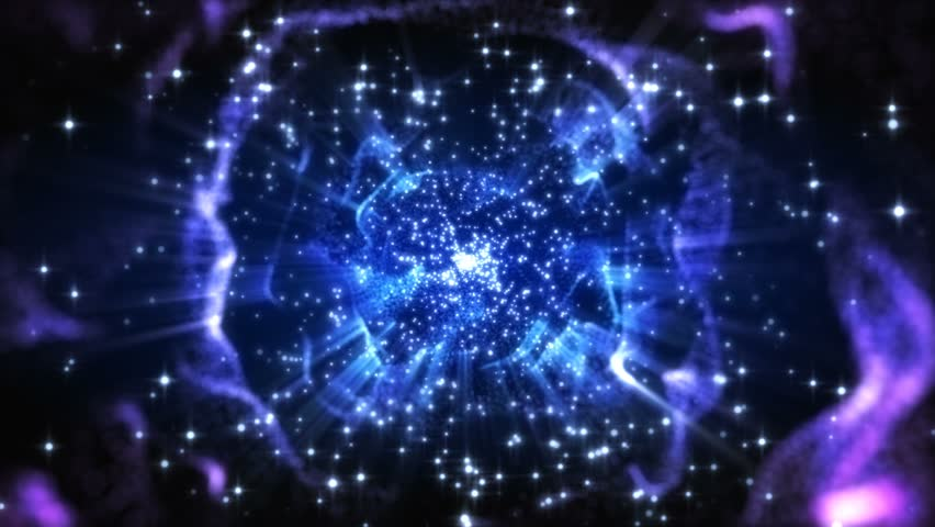 4K Abstract motion background animation shining particles stars sparks and magic dust forming in space wave flow with light rays and projections seamless loop | Shutterstock HD Video #1026111860