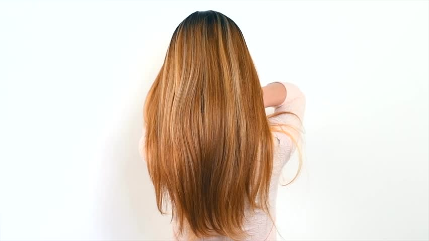 Beautiful long Hair. Beauty woman with luxurious straight brown hair. Sexy brunette Model girl with Healthy Hair. Lady with long smooth shiny straight hair. Hairstyle, cure, extensions. 4K slow motion | Shutterstock HD Video #1026295520