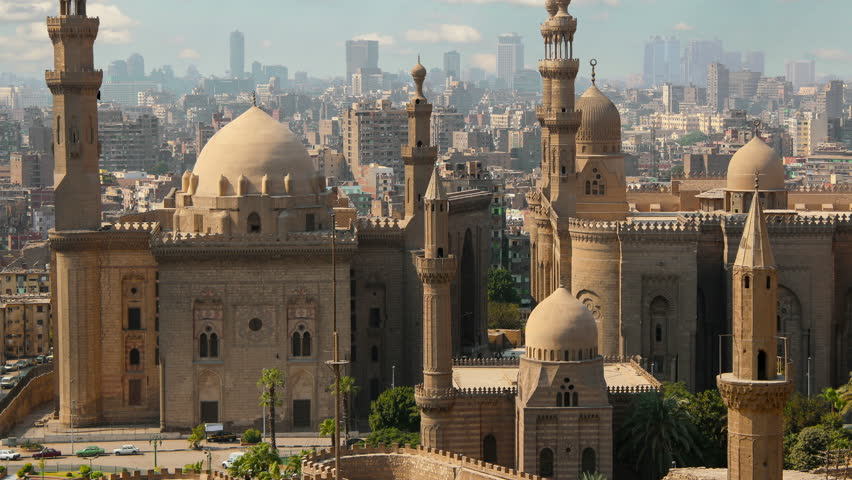 Mosque of Sultan Hassan. Cairo. Egypt. Timelapse