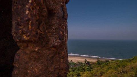 Beach India Fort Chapora Hyperlapse