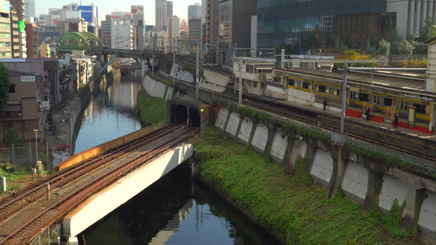 Railroad Junction at Ochanomizu | Shutterstock HD Video #1027414460