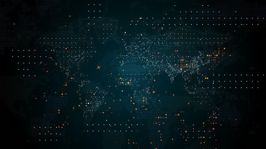 Technology World map | Shutterstock HD Video #1027420760