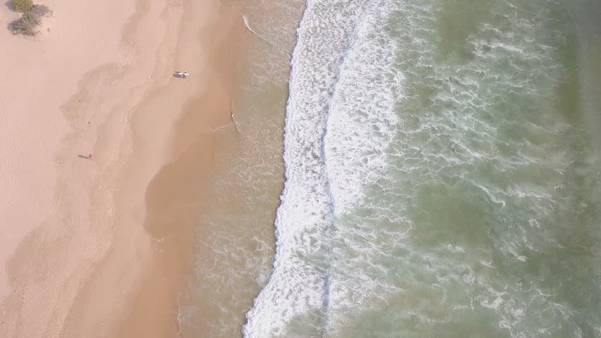 Aerial flying along exotic beach in South Africa | Shutterstock HD Video #1027501970