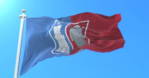 Flag of the city and administrative center of Rostov on Don, Russia. Loop