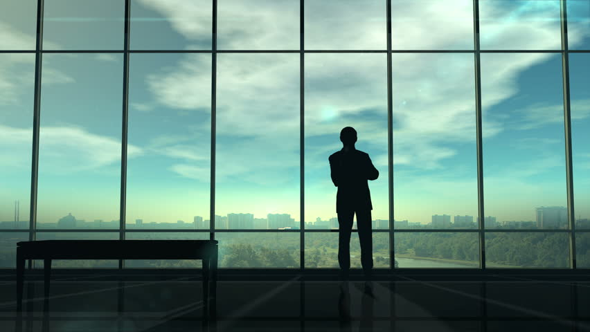 Silhouette of man corporate infographics | Shutterstock HD Video #1027551920