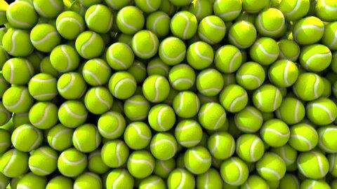 Tennis balls fill screen transition composite overlay
